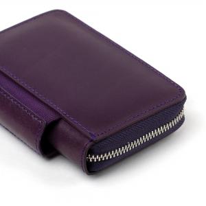 Galen Leather - Galen Leather EDC Deri Kalem Çantası-Cüzdan Mor (1)