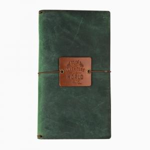 Galen Leather - Galen Leather El Yapımı Deri Seyehat Defteri Orman Yeşili