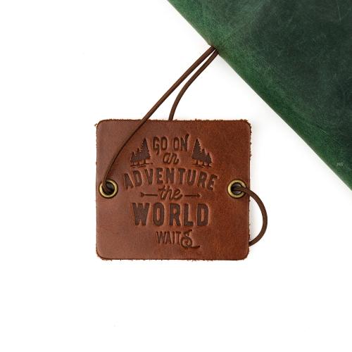 Galen Leather El Yapımı Deri Seyehat Defteri Orman Yeşili