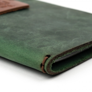 Galen Leather El Yapımı Deri Seyehat Defteri Orman Yeşili - Thumbnail