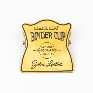 Galen Leather - Galen Leather El Yapımı Pirinç Kıskaç