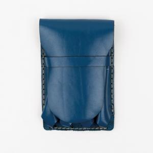 Galen Leather - Galen Leather Major 4'lü Deri Dolma Kalem Çantası Mavi