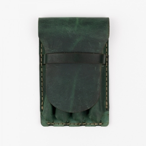 Galen Leather - Galen Leather Major 4'lü Deri Dolma Kalem Çantası Orman Yeşili