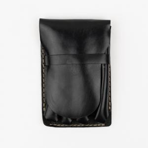 Galen Leather - Galen Leather Major 4'lü Deri Dolma Kalem Çantası Siyah