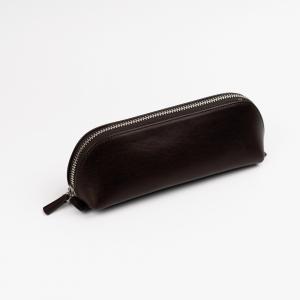 Galen Leather - Galen Leather XLarge Deri Kalem Çantası Koyu Kahve