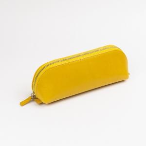 Galen Leather - Galen Leather XLarge Deri Kalem Çantası Sarı