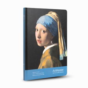 Gıpta - GIPTA Artmaster 17x24cm Perforeli Çizgili Defter Johannes Vermeer Girl With a Pearl Earring 0491