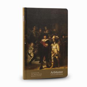 Gıpta - GIPTA Artmaster 17x24cm Perforeli Çizgili Defter Rembrandt Van Rijn Night Watch 0491