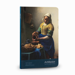 Gıpta - GIPTA Artmaster 19x26cm Perforeli Defter Defter Johannes Vermeer Milkmaid