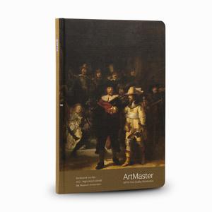 Gıpta - GIPTA Artmaster 19x26cm Perforeli Defter Rembrandt Van Rijn Night Watch