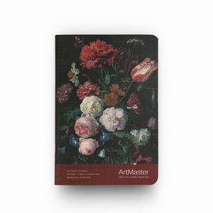 Gıpta - GIPTA Artmaster A6 Perforeli Çizgisiz Defter Jan Davidsz de Heem Flowers in a Glass Vase 0576