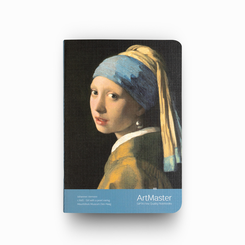 GIPTA Artmaster A6 Perforeli Çizgisiz Defter Johannes Vermeer Girl With a Pearl Earring 0576