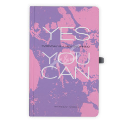 Gıpta - GIPTA Mor Yes You Can Kareli Defter 13x21cm