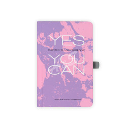 Gıpta - GIPTA Mor Yes You Can Kareli Defter 9x14cm