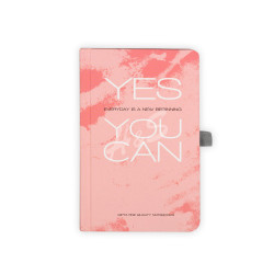 Gıpta - GIPTA Pembe Yes You Can Kareli Defter 9x14cm