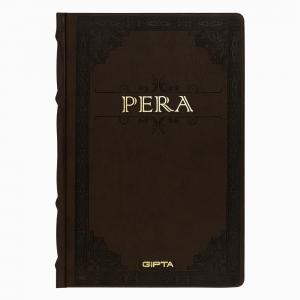 Gıpta - GIPTA Pera Large Çizgisiz Defter Koyu Kahverengi 3903
