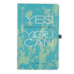 Gıpta - GIPTA Turkuaz Yes You Can Kareli Defter 13x21cm