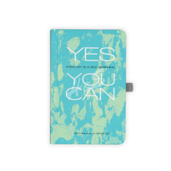 Gıpta - GIPTA Turkuaz Yes You Can Kareli Defter 9x14cm