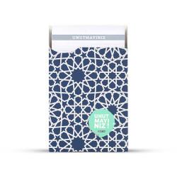Gıpta - GIPTA Unutmayınız Not Kartları Mavi Pattern