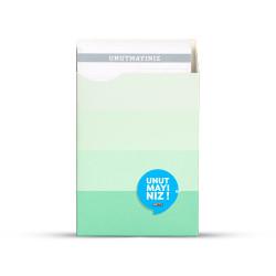 Gıpta - GIPTA Unutmayınız Not Kartları Yeşil Şeritler