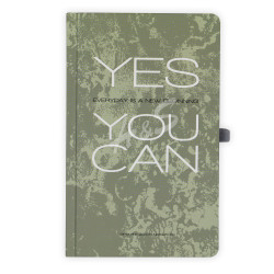 Gıpta - GIPTA Yeşil Yes You Can Kareli Defter 13x21cm