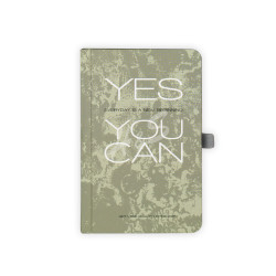 Gıpta - GIPTA Yeşil Yes You Can Kareli Defter 9x14cm