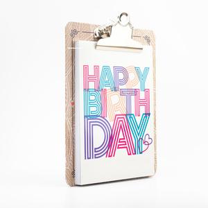 H&S - Happy Kıskaçlı Bloknot Happy Birth Day 0410