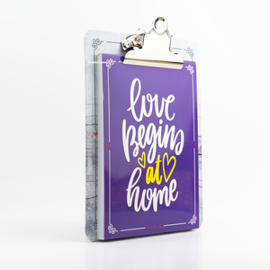 H&S - Happy Kıskaçlı Bloknot Love Begins at Home 0410