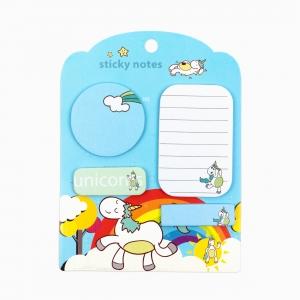 H&S - Happy Sticky 4'lü Yapışkanlı Not Kağıt Seti M01