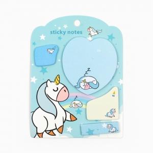 H&S - Happy Sticky 4′lü Yapışkanlı Not Kağıt Seti M03