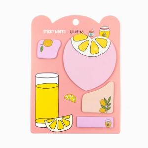 H&S - Happy Sticky 4′lü Yapışkanlı Not Kağıt Seti M04