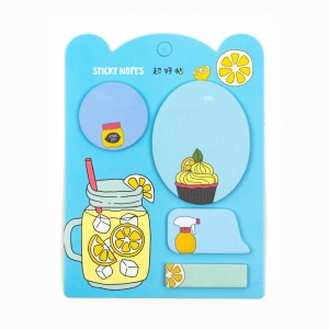 H&S - Happy Sticky 4′lü Yapışkanlı Not Kağıt Seti M14
