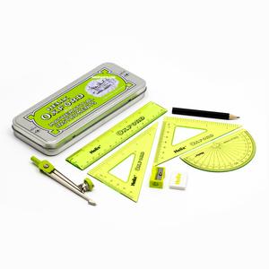 Helix - Helix Oxford Metal Kutulu Cetvel & Pergel Seti Limited Edition Yeşil 3106 (1)
