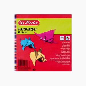 Herlitz - Herlitz 20x20 cm 100'lü Karışık Renk Origami Kağıdı 247619 7618