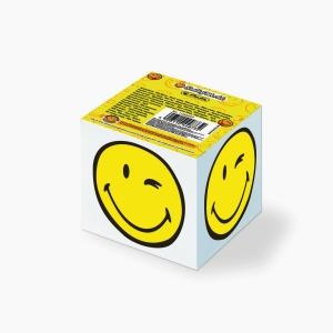 Herlitz - Herlitz 8x8 cm 700'lü Çizgisiz Beyaz Smiley World Küp Not Kağıdı 11245297 8732