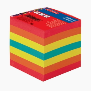 Herlitz - Herlitz 9x9 cm 700'lü Çizgisiz Karışık Renkli Küp Not Kağıdı 146092 6096