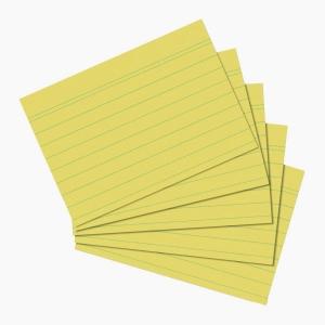 Herlitz - Herlitz Kartoteks A5 100'lü Çizgili Sarı 1150515 0511