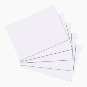 Herlitz - Herlitz Kartoteks A5 100'lü Çizgisiz Beyaz 10621308 9545
