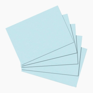Herlitz - Herlitz Kartoteks A5 100'lü Çizgisiz Mavi 10837128 0251