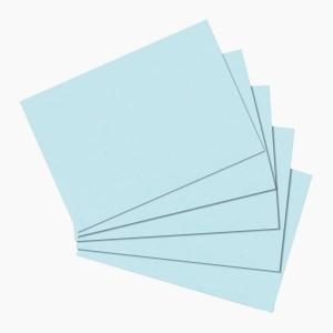 Herlitz - Herlitz Kartoteks A6 100'lü Çizgisiz Mavi 10837177 0596