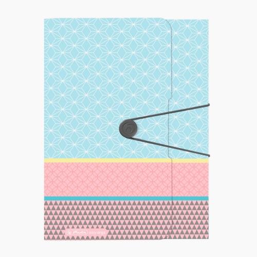 Herlitz A4 Pastel Pattern Lastikli Dosya 2224