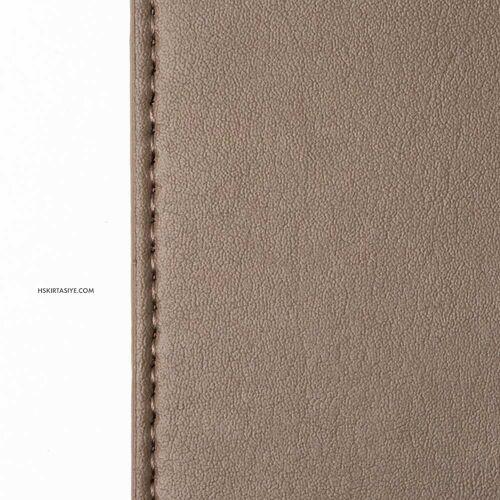 H&S Lastikli Kitap Defter Kalem Tutucu Kahverengi 4301