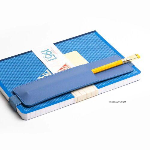 H&S Lastikli Kitap Defter Kalem Tutucu Mavi 4271