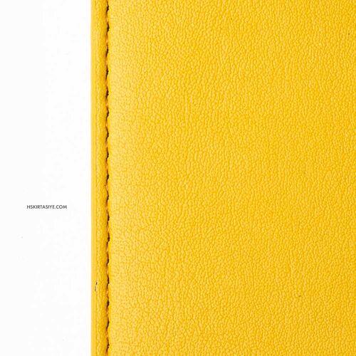 H&S Lastikli Kitap Defter Kalem Tutucu Sarı 4325
