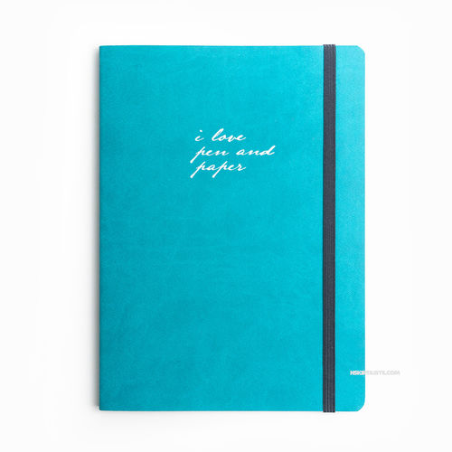 i love pen and paper Dot (Noktalı) Limited Edition Defter Turkuaz 4921