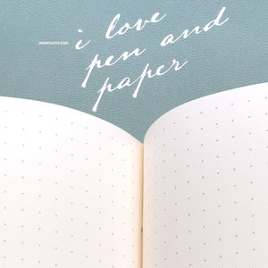 i love pen and paper Dot (Noktalı) Limited Edition Defter Turkuaz 4921 - Thumbnail
