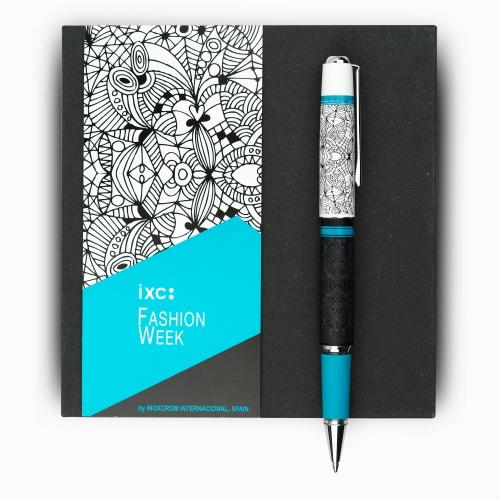 inoxcrom Fashion Week Azul Dibujos Special Edition Tükenmez Kalem 1293