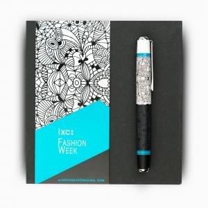 Inoxcrom - inoxcrom Fashion Week Azul Dibujos Special Edition Tükenmez Kalem 1293 (1)