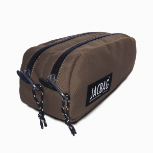 Jac Bag - JACBAG Dual Pouch Brown Kalem Çantası 7711