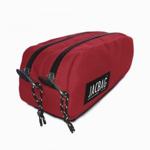 JACBAG Dual Pouch Red Kalem Çantası 7711 - Thumbnail